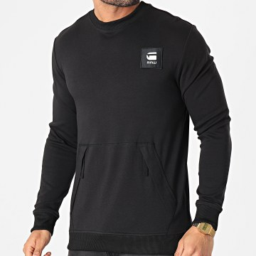 G-Star - Sweat Crewneck Box Logo Pocket Tweater D19235-C584 Noir