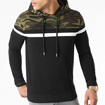LBO - Sweat Capuche Tricolore 1575 Camouflage Noir
