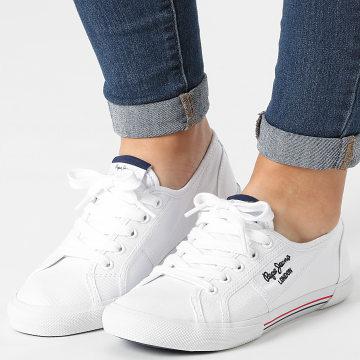Pepe Jeans - Baskets Aberlady Ecobass PLS31193 White