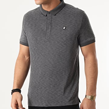Teddy Smith - Polo Manches Courtes Garlager Gris Anthracite Chiné