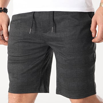 Blend - Short Jogging A Carreaux 20712149 Gris Anthracite