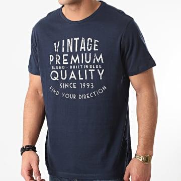 Blend - Tee Shirt 20712064 Bleu Marine