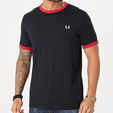 Fred Perry - Tee Shirt Chalky M3519 Bleu Marine Rouge