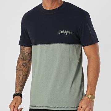 Jack And Jones - Tee Shirt Raidens Vert Bleu Marine