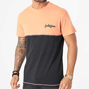 Jack And Jones - Tee Shirt Raidens Noir Orange