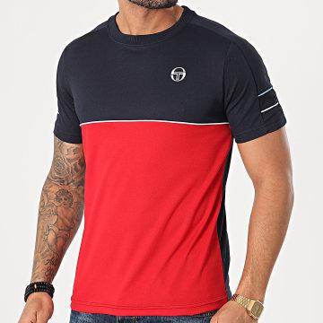 Sergio Tacchini - Tee Shirt Amarillis 39104 Bleu Marine Rouge