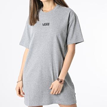 Vans - Robe Tee Shirt Femme Center Vee A4RU202F Gris Chiné