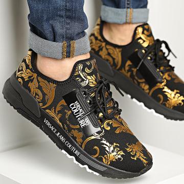 Versace Jeans Couture - Baskets Linea Fondo Aerodynamic E0YWASA4 Black Gold Renaissance
