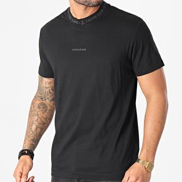 Calvin Klein - Tee Shirt Logo Jacquard 7096 Noir