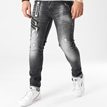 Classic Series - Jean Skinny 2021-55-01A Gris Anthracite