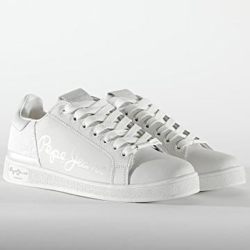 Pepe Jeans - Baskets Femme Brompton Fun PLS31133 White