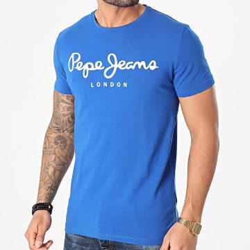 Pepe Jeans - Tee Shirt Original Stretch PM501594 Bleu Roi