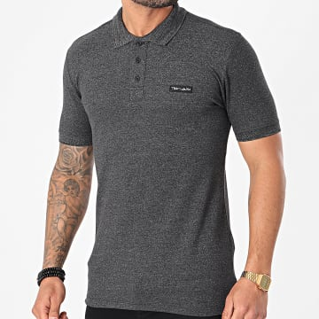 Teddy Smith - Polo Manches Courtes Nark Gris Anthracite Chiné