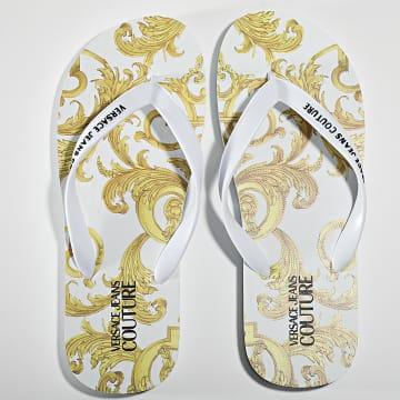 Versace Jeans Couture - Tongs Linea Fondo Flip Flop E0YWASQ7 Blanc Renaissance