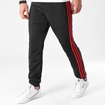 Adidas Originals - Pantalon Jogging A Bandes GN3854 Noir Rouge