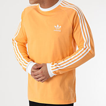 Adidas Originals - Tee Shirt Manches Longues A Bandes GS8760 Orange
