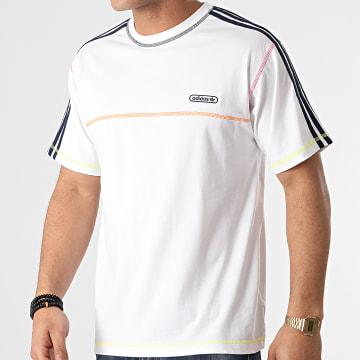 adidas - Tee Shirt A Bandes Contrast Stitch GN3885 Blanc