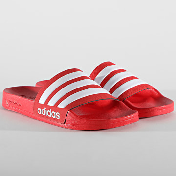 adidas - Claquettes Adilette Shower FY7815 Rouge Blanc