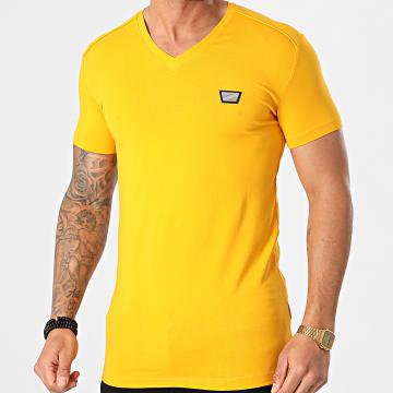 Antony Morato - Tee Shirt Col V MMKS01824 Jaune