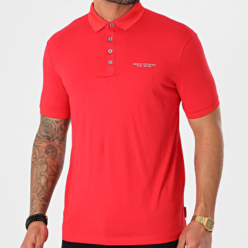 Armani Exchange - Polo Manches Courtes 8NZF80-Z8H4Z Rouge