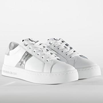 Calvin Klein - Baskets Femme Cupsole Lace Up 0061 White