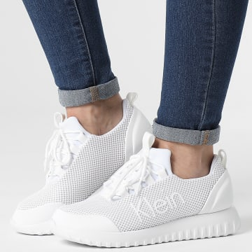 Calvin Klein - Baskets Femme Runner Lace Up Mesh 0165 Bright White