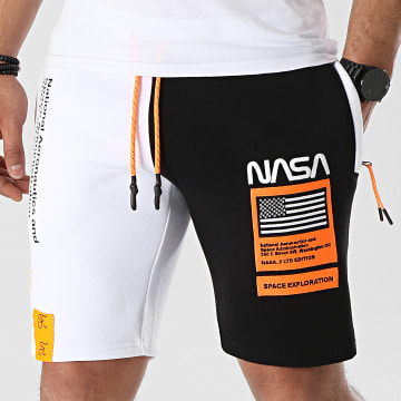 Final Club - Short Jogging Half Limited Edition Noir Blanc Détails Orange Fluo
