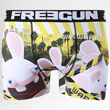 Freegun - Boxer Lapins Crétins Warning Jaune