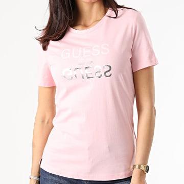 Guess - Tee Shirt Femme W1GIOC-I3Z11 Rose