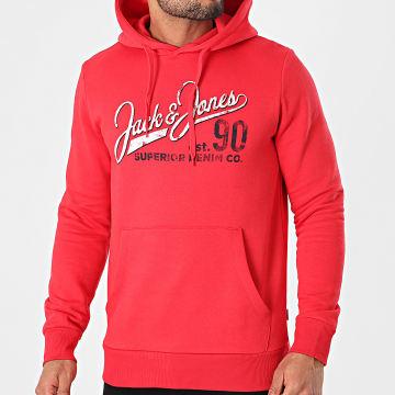 Jack And Jones - Sweat Capuche Logo Rouge