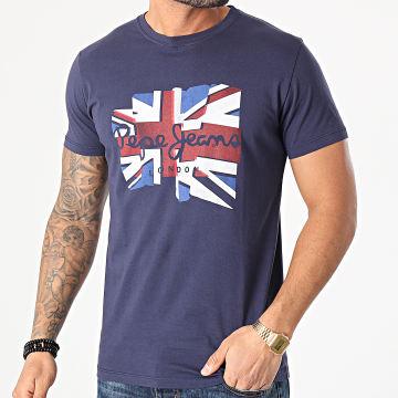 Pepe Jeans - Tee Shirt Donald PM507748 Bleu Marine