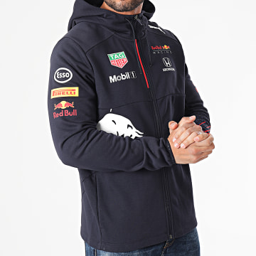 Puma - Sweat Zippé Capuche Red Bull Racing 763108 Bleu Marine