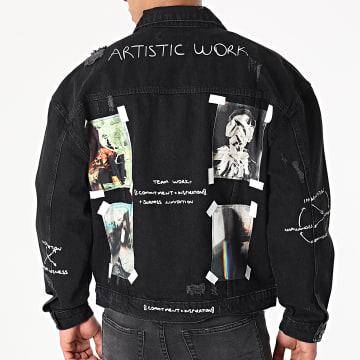2Y Premium - Veste Jean 0089 Noir
