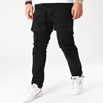 2Y Premium - Pantalon Cargo B5853 Noir