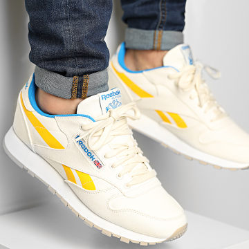 Reebok - Baskets Classic Leather Grow S23721 Chalk Prmali Yellow Horizon Blue