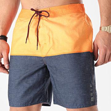Rip Curl - Short De Bain NU Divide Semi Elasticad Orange Bleu Brut