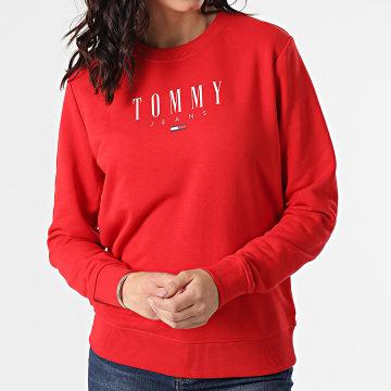 Tommy Jeans - Sweat Crewneck Femme Regular Essential Logo 9918 Rouge