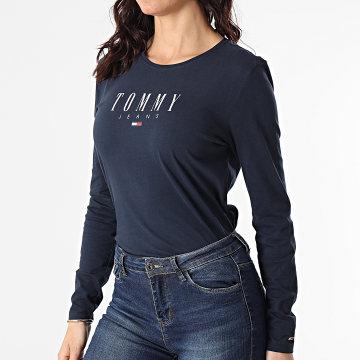 Tommy Jeans - Tee Shirt Manches Longues Femme Slim Lala 9928 Bleu Marine