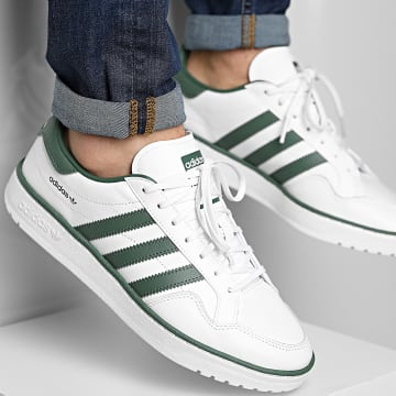 Adidas Originals - Baskets Team Court FY2720 Footwear White Green Oxide
