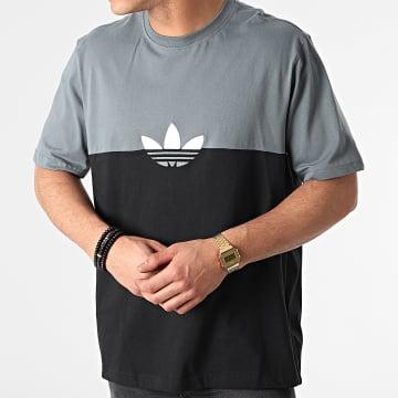 Adidas Originals - Tee Shirt Slice Trefoil Box GN3504 Noir Gris