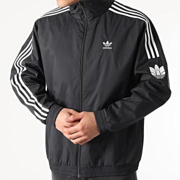 Adidas Originals - Veste Zippée A Bandes 3D Trefoil GN3535 Noir