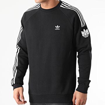 Adidas Originals - Sweat Crewneck A Bandes 3D Trefoil GN3545 Noir