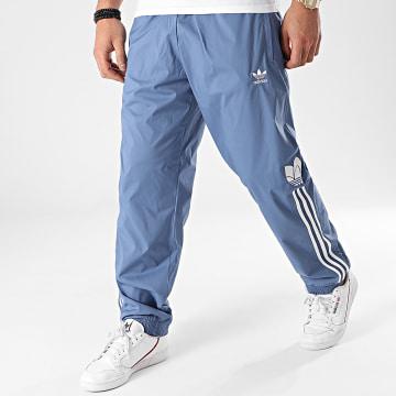 Adidas Originals - Pantalon Jogging A Bandes 3D Trefoil GN3534 Bleu
