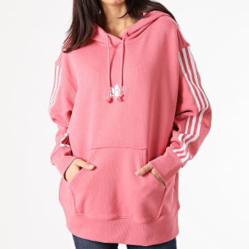 Adidas Originals - Sweat Capuche Femme A Bandes GN6705 Rose