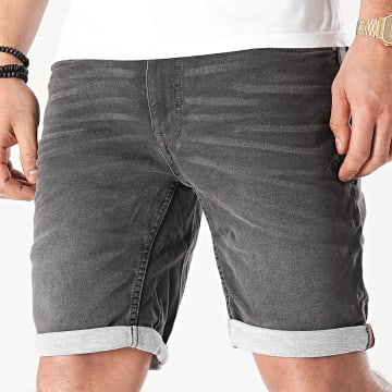 Blend - Short Jean Twister 20711773 Gris Anthracite