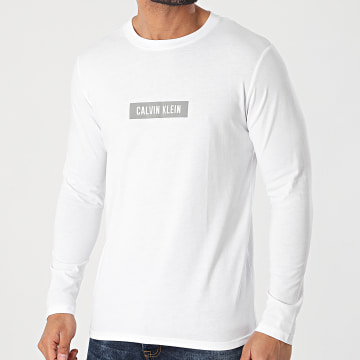 Calvin Klein - Tee Shirt Manches Longues PW GMS1K141 Blanc Réfléchissant
