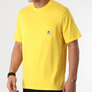 Element - Tee Shirt Poche Basic Pocket Label Jaune
