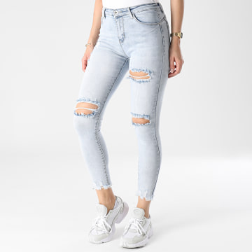 Girls Outfit - Jean Skinny Femme A120 Bleu Wash