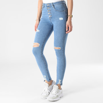 Girls Outfit - Jean Skinny Femme B802 Bleu Denim
