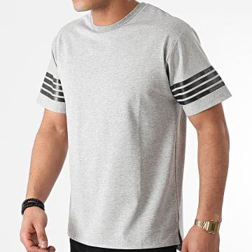 John H - Tee Shirt XW929 Gris Chiné